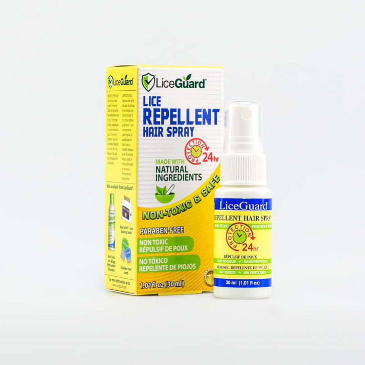 luizenlotion,LiceGuard repellent spray,beschermingsspray,hoofdluis voorkomen